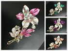 Modest Wear Fashion Hijab Pins Elegant Bridal Brooches Gold Floral Rhinestones