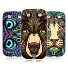 HEAD CASE DESIGNS AZTEC ANIMAL FACES SOFT GEL CASE FOR SAMSUNG GALAXY S3 III