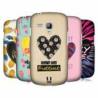 HEAD CASE DESIGNS HEART PATCHES HARD BACK CASE FOR SAMSUNG GALAXY S3 III MINI