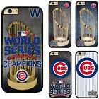 Chicago Cubs World Series Champions Plastic Phone Case Cover For iPhone Samsung