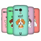 HEAD CASE DESIGNS HAPPY PUPPIES HARD BACK CASE FOR MOTOROLA MOTO G (1ST GEN)