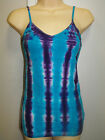LADIES TIE DYE / DYED HIPPY RAVE DOOF SINGLET CAMI SIZE MEDIUM OR 10