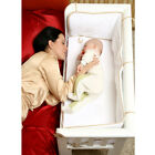 BABY Crib Bedside Cot Bed Wooden White Mattress Next to Me From Birth NEW