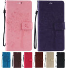 Colorful Embossed Premium Flip Leather Stand Wallet Case Cover For Huawei Phones