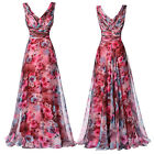 Grace Karin V Neck Chiffon Evening Dress Formal Floral Bridesmaid Party Prom New