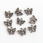 25/100/300Pcs Znic Alloy Mini Butterfly Charms Pendants For DIY Making 11x13mm