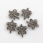 20/50/150Pcs Znic Alloy Butterfly Connector Pendants For DIY Making 17x14mm