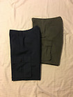 Dockers: Men Classic Cargo Style Shorts, Flat Front: Green or Blue, 30W