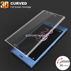 3D Curved Full Cover Tempered Glass Protector For Sony Xperia X XZ XA Ultra S001