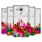 HEAD CASE DESIGNS WATERCOLOURED SKYLINE CASE FOR SONY XPERIA SP / C5302 / C5303