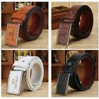 Men's Casual Waistband Business Leather Automatic Buckle Belt Waist Strap Belts