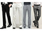 New Men Dress Pants Formal Suit Pants Cotton Blend Slim Fit Straight Trousers