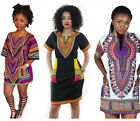 Women Dashiki Traditional African Print Dress Hippe Gypsy Tops Shirt Party