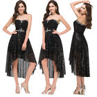 Sequins Womens Formal Bodycon Dress Cocktail Evening Party Prom Bridesmaid Dress