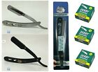 Premium Straight Edge Razor w/300 Derby Single Edge Razor Blades - FAST Shipping