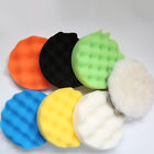 9PCS 3/4/5'' Sponge Polishing Waxing Buffing Pads Kit Set Compound For Auto Car