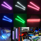 "2PCS 6""/12"" CCFL Interior Exterior Neon Tube 12V Car Decor Lights PC Bright"