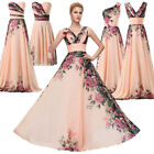 Floral Long Formal Evening Party Prom Wedding Gown Bridesmaid Dress SIZE 6-20