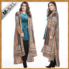 new women's Long Jacket Islamic Muslim Kaftan Abaya Long Shirt Cardigan Blousees