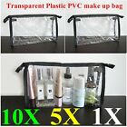 10/5X Clear Cosmetic Pouch Makeup Bag PVC Waterproof Transparent Travel Toiletry