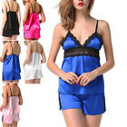 Women's Lingerie 2Pcs Sets Babydoll+Panty Sleepwear Top Cami Camisole Nightwear