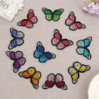 10PCS Embroidered Sew Iron On Patches Butterfly Badge Hat Bag Jeans Applique