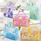 Clear PVC Flower Waterproof Makeup Toiletry Travel Wash Cosmetic Bag Pouch LAUS