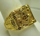 Solid 10K Gold Masonic free mason ring Jewelry Any size