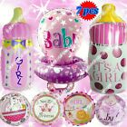WIDE SELECTIONS Girl Baby Shower Sticks Foil Balloons Birthday Party Supply lot