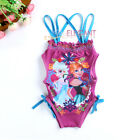 Disney Elsa & Anna Enfants Filles Maillots de Bain Girls Swimsuit 2-9 ans Violet