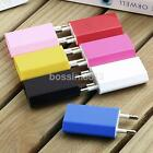 2 Pin European Power Adapter USB AC EU Plug Breastwork Charger For iPhone Samsung
