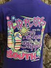 Flip Flops are the Glass Slipper of the South T-Shirt American Girls Sassy Beach
