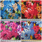 Discount Fabric Printed Lycra Spandex Stretch Choose Your Color Bold Floral PS