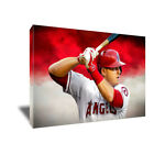 Los Angeles Angels MIKE TROUT Poster Photo Painting Artwork on CANVAS Wall Art on Ebay