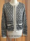 Joie Jacolyn Porcelain Caviar Blk/ivory Zip Front Cardigan - Best Reviews Guide