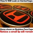 HONDA CENTER CAP BLACK/RED DECALS jdm oem type-r EP3 DC5 civic accord tsx tl rsx