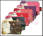 Flower Embroider Cotton Coin Purse / Lucky Cat 2 Tone Colors