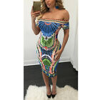 Lady Sexy Off Shoulder Evening Party Cocktail Mini Short Club Bodycon Dress