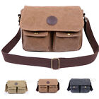 New Men's Vintage Canvas  Satchel School Military Shoulder  Messenger Bag Work