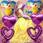 Disney Princesses Belle Foil Balloons Decor O Shower Birthday Party Supplies lot