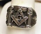 STERLING SILVER 925 free mason MASONIC RING Freemasonry Jewelry Pick your size