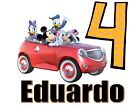 Mickey Minnie Mouse Car Name Age  T shirt Iron on Transfer 8x9- 5x6  light