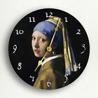 Girl with a Pearl Earring Vermeer Fine Artwork Silent Wall Clock