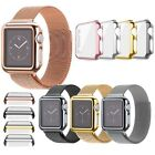 For Apple Watch 38/42mm Slim Full Body Cover Snap On  Case + Screen Protector