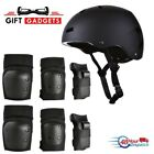 SKATEBOARD / SKATE PROTECTION SET WITH HELMET - scooter BMX elbow knee pads kids