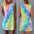 New Women Summer Sleeveless Fashion Vogue Vest Top Blouse T-Shirt Mini DressLAUS
