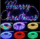360 Angle 220V Round Led Rope Fairy Light Waterproof Tube strip Christmas 1-100m