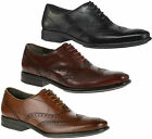Mens Hush Puppies Griffin Maddow Smart Formal Leather Brogues Sizes 7 to 12