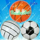 Basketball Soccer Volleyball SPORTS Balloons Championship Party Supplies lot A