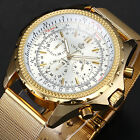 ORKINA Luxury Elegant Chronograph Stainless Steel Sport Mens Quartz Wrist Watch